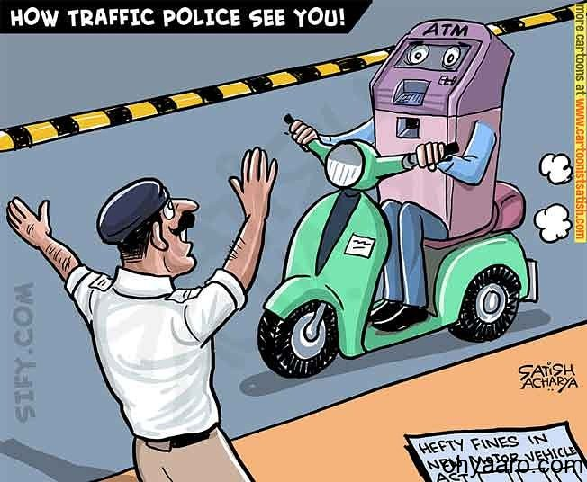 traffic police funny pic