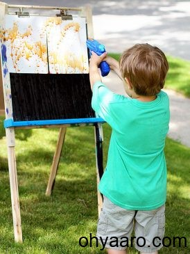 Outdoor Painting Baby for WhatsApp