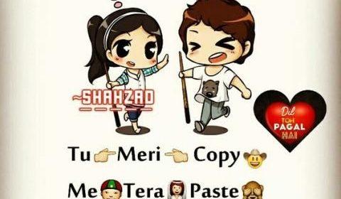 Love Shayari With Cartoon Images