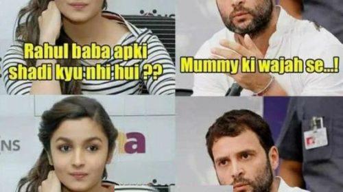 Rahul Gandhi VS Alia Bhatt Joke – Rahul Gandhi & Alia Bhatt Funny Pic
