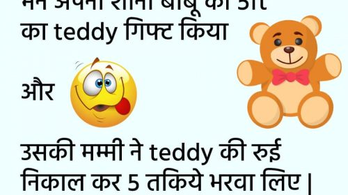 Teddy Bear Day Jokes – Hindi Jokes Teddy Bear Day